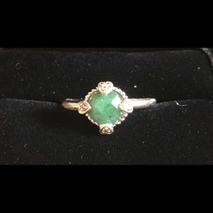 Judith Ripka Green Jade Ring